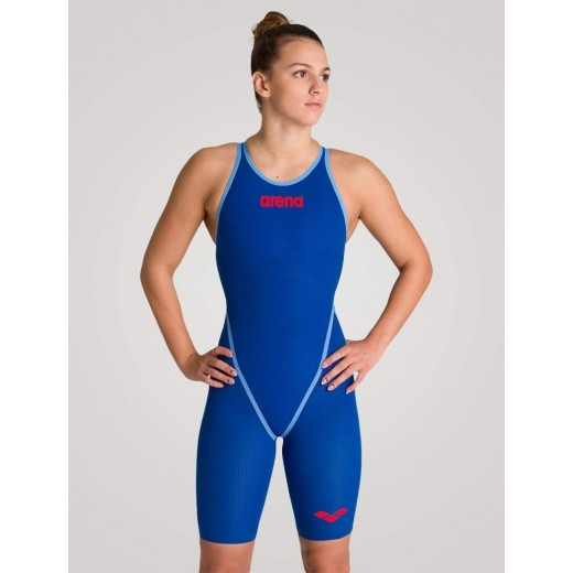 Arena Powerskin Carbon CORE FX dragt Ocean Blue Dame-31