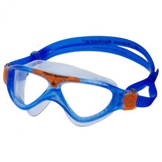 Aqua Sphere Vista Junior Svømmebrille Klar Lens Blue/orange-01
