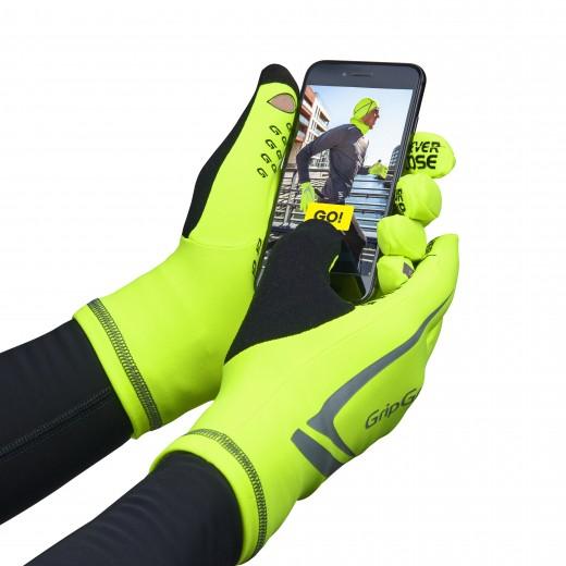 GripGrap Running Expert Hi-Vis Touchscreen Vinterhandske-01