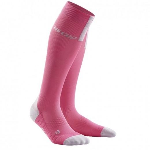 CEP Run Socks 3.0 Kompressions strømpe Dame Rose/Light Gray-31