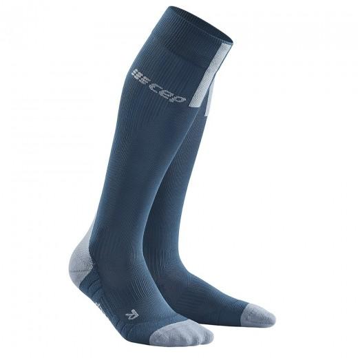 CEP Run Socks 3.0 Kompressionsstrømpe Dame BLUE / GREY-31