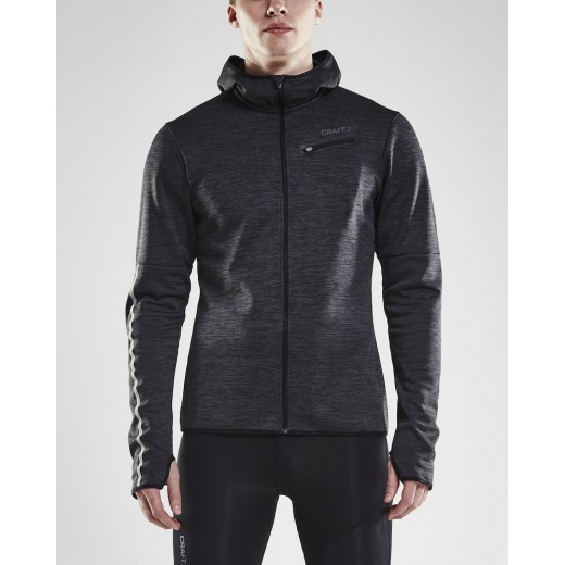 Craft Eaze Jersey Hood Jacket Black Melange-03