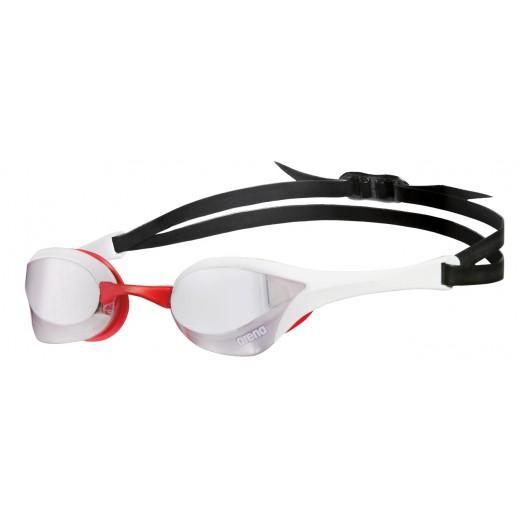 Arena Cobra Ultra Mirror Sølv linse Svømmebrille Hvid/Rød-32