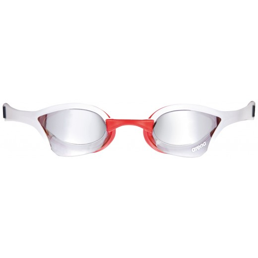 Arena Cobra Ultra Mirror Sølv linse Svømmebrille Hvid/Rød-02