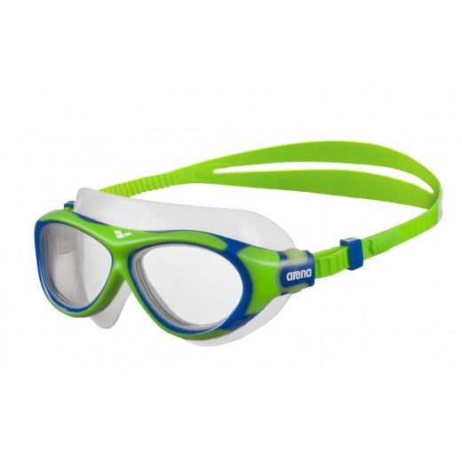 Arena OBLÉ Junior Svømmebrille Klar glas Grøn/Blå-32