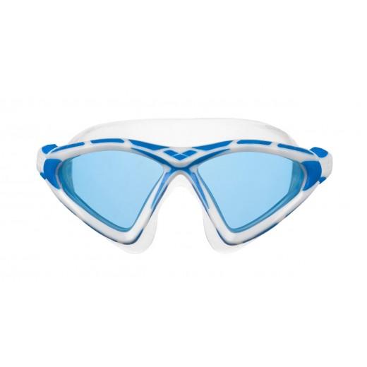 Arena X-Sight 2 Openwater svømmebrille Blå linse Hvid/Blå-01
