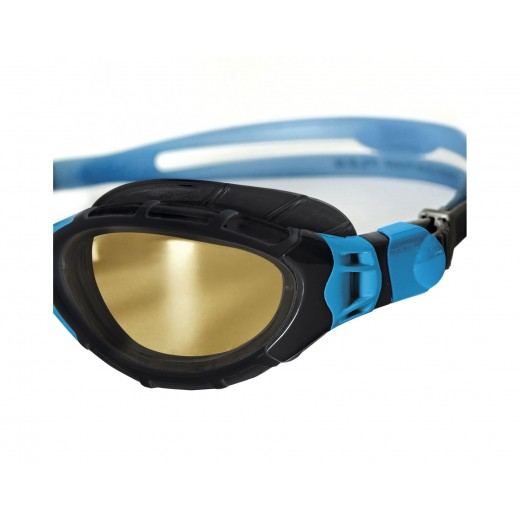 Zoggs Predator Flex Polarized Ultra Black/Blue 2018 model.-04