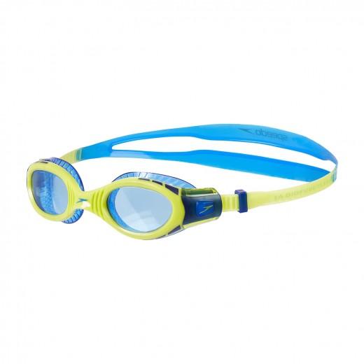 SpeedoFuturaBiofuseFlexisealJuniorSvmmebrilleNewSurfLimePunchBondiBlue-32
