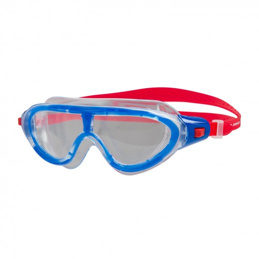 Speedo Biofuse Rift Junior Svømmebrille Lava Red/Beautiful Blue/Clear-03