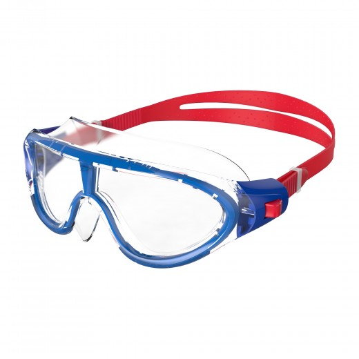 Speedo Biofuse Rift Junior Svømmebrille Lava Red/Beautiful Blue/Clear-33
