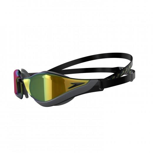 Speedo Fastskin Pure Focus Mirror Svømmebrille Black/Cool Grey/Blue/Gold-01