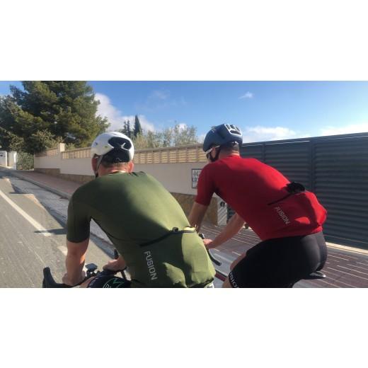 Fusion C3 Cykel Jersey RedMelange-01