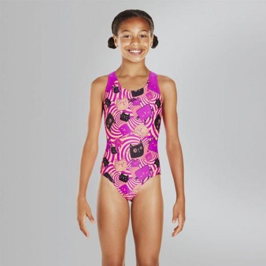 SpeedoAlloverSplashbackSwimsuitBarnPurpleorange-01