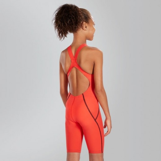 SPEEDO Fastskin Junior LZR Racer X Openback Kneeskin Red/Pink-01