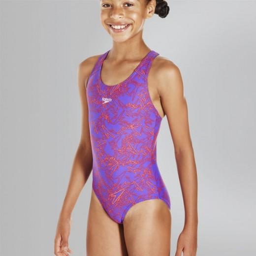 Speedo Boom Allover Splashback svømmedragt pige-01