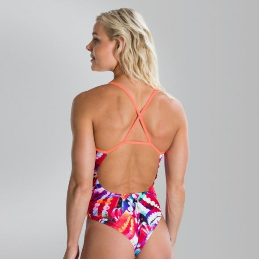 Speedo Flipturns Single Crossback Badedragt Orange/Blue-01