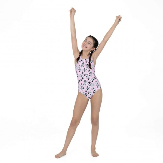 Speedo Minnie Mouse Allover Medalist Powder/Black Pige-03
