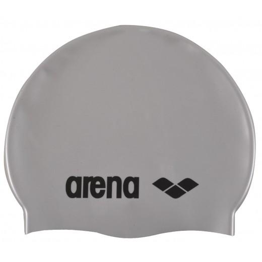 Arena classic silicone badehætte til børn Sølv-31
