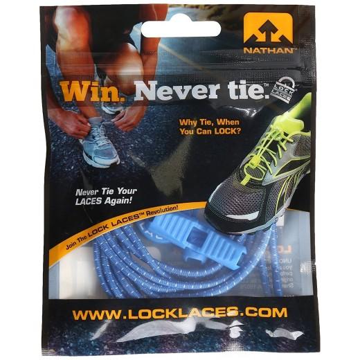 Lock Laces Elastic Snørebånd Blue/Blå-32