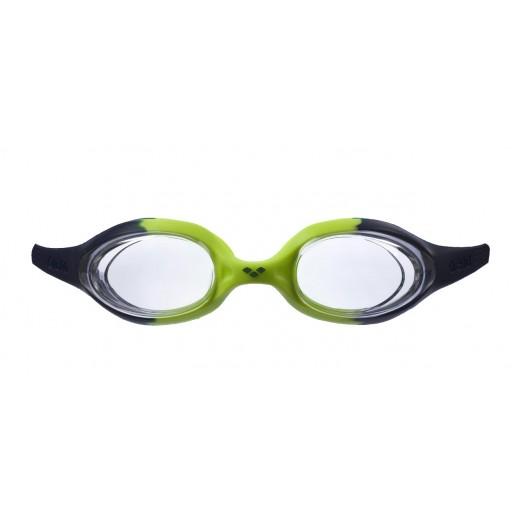 Arena Spider Junior Svømmebrille Klar glas Grøn/Sort-01