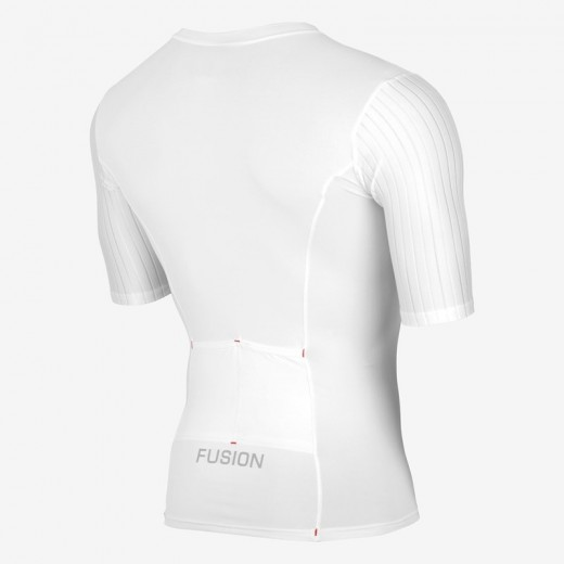 Fusion SLi Tri Top Short Sleev Hvid/Hvid 2019 NYHED-01
