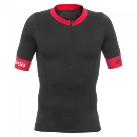 Mens Tri Top Short Sleeve sort/rød-01