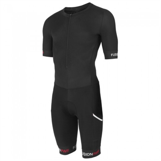 Fusion SPEED SUIT Black/Black m/ryglomme.-31