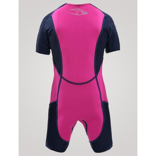 Aqua Sphere Stingray Junior svømmedragt 2mm neopren 1-12 år Pink-01
