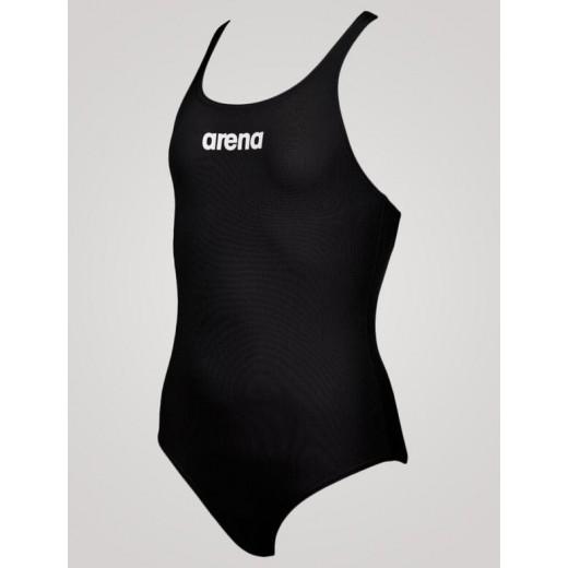Arena Solid Swim Pro JR Pige Sort-02
