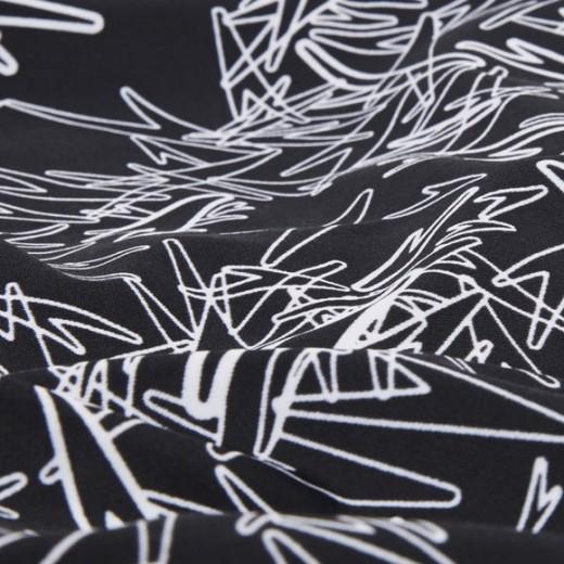 SPEEDO Boom Allover Muscleback Swimsuit Black/White-01