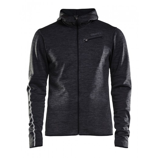 Craft Eaze Jersey Hood Jacket Black Melange-33