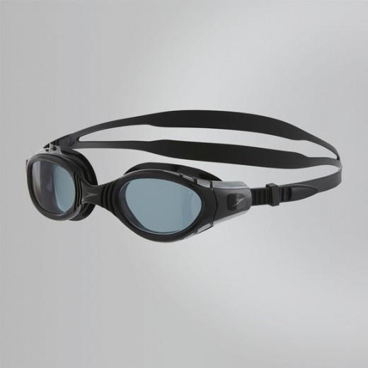 Speedo Futura Biofuse Black. Smoke Lens-01