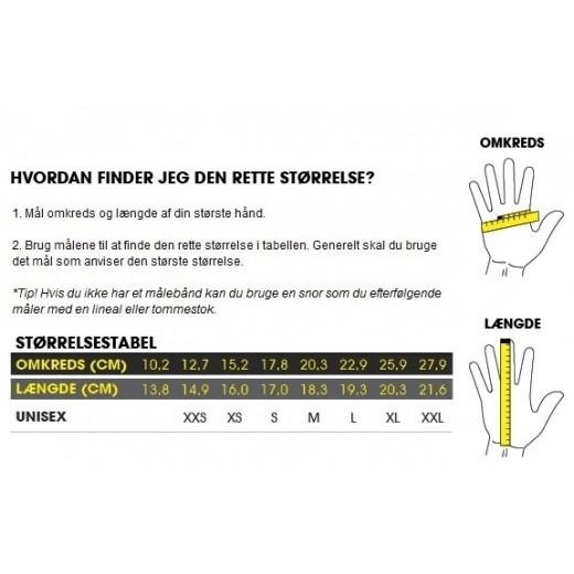 GripGrap ProGel Hi-Vis Polstret Kortfingret Handske-02