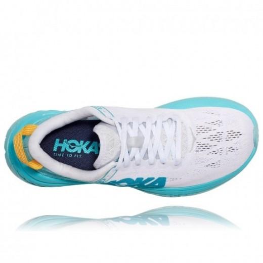Hoka One One Carbon-X Dame White/BlueIce-01