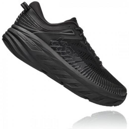 Hoka Bondi 7 Wide Dame løbesko Black/Black-01