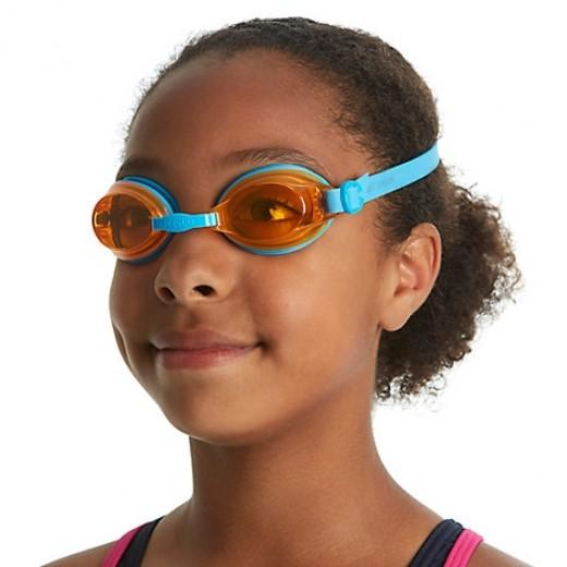 Speedo Jet Junior Svømmebrille, Blue/Orange-01