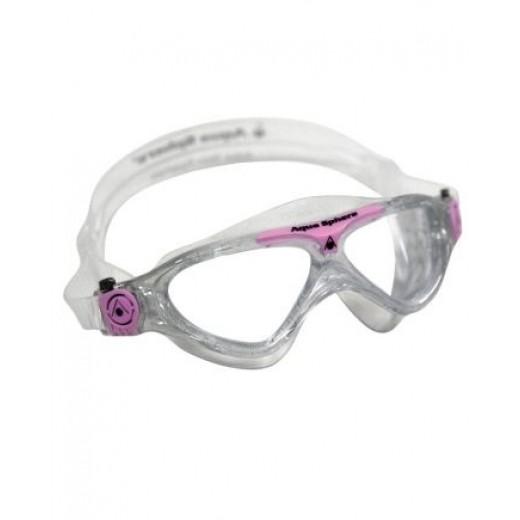 996d7bcd30b ... Aqua Sphere Vista Junior Svømmebrille Klar Lens Glitter/pink-01 ...
