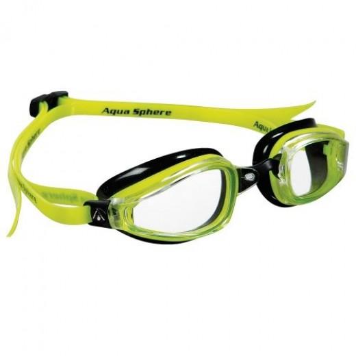 Michael Phelps K180 Clear Lens Yellow/Black-31