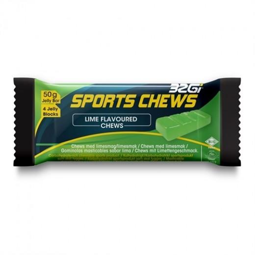 32Gi Sport Chews med lime smag 12 stk. i Kasse.-31