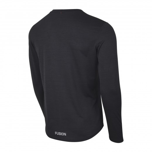 Fusion C3 Herre LS Shirt Sort-Melang-01