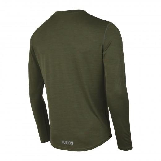 Fusion C3 Herre LS Shirt Green-Melange-01
