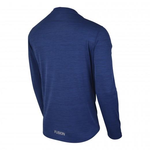 Fusion C3 Herre LS Shirt Blå-Melang-01
