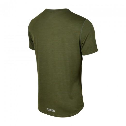 Fusion C3 T-Shirt Herre GreenMelange-01
