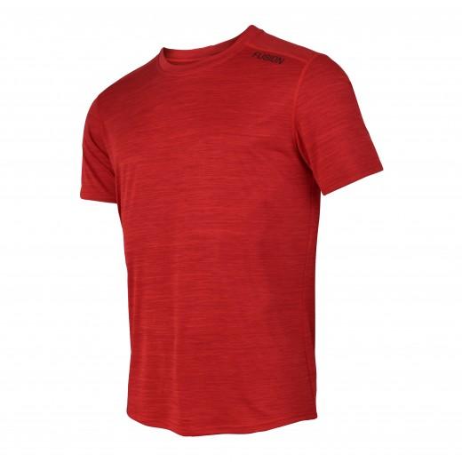 Fusion C3 T-Shirt Herre RødMelange-31