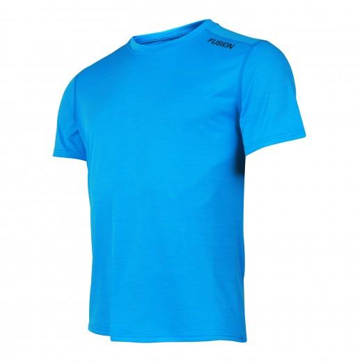 Fusion C3 T-Shirt Herre Lysblå Melange-31