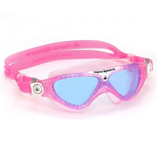 Aqua Sphere Vista Junior Svømmebrille Blue Lens Pink-31