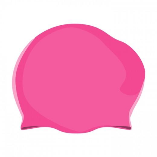 Badehætte Voksen Silicone Langt hår Pink-31