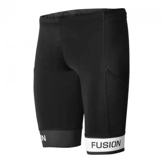 Fusion Tri PWR Band Pokt Tights Black/White-31