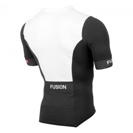 Fusion SLi Tri Top Short Sleeve Sort/hvid-01