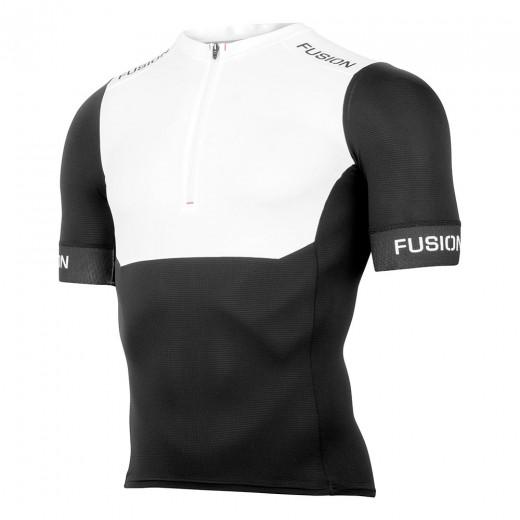 Fusion SLi Tri Top Short Sleeve Sort/hvid-31